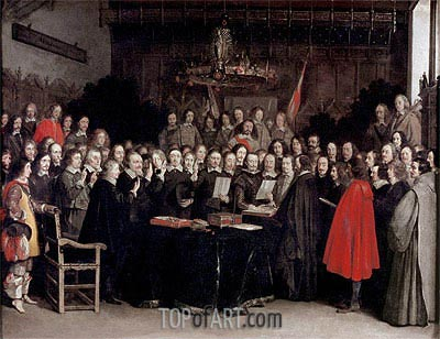 The Ratification of the Treaty of Munster, 1648 | Gerard ter Borch | Painting Reproduction