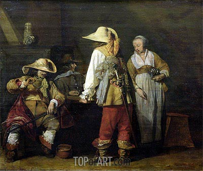 Gerard ter Borch | Interior of an Inn, 1636
