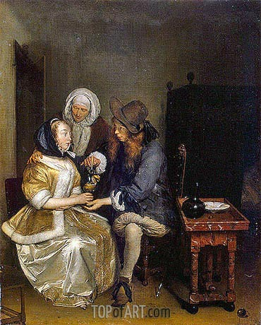 The Glass of Lemonade, c.1660 | Gerard ter Borch| Gemälde Reproduktion
