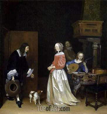 The Suitor's Visit, c.1658 | Gerard ter Borch | Painting Reproduction