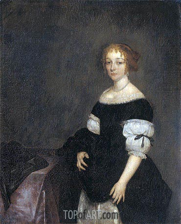 Portrait of Aletta Pancras, 1670 | Gerard ter Borch | Painting Reproduction