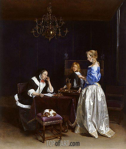 The Letter, c.1660/62 | Gerard ter Borch| Painting Reproduction