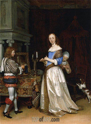 A Lady at her Toilet, c.1660 | Gerard ter Borch | Painting Reproduction