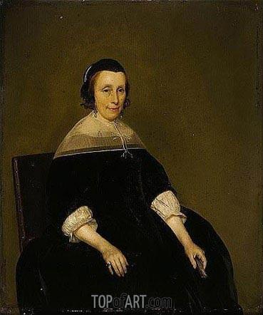 Gerard ter Borch | Portrait of a Lady, c.1650