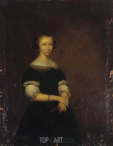 Gerard ter Borch | Portrait of a Lady, c.1670