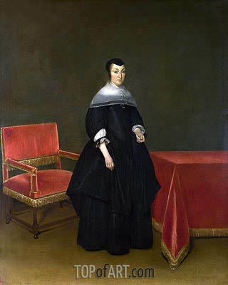 Portrait of Hermanna van der Cruis, c.1665/69 | Gerard ter Borch| Painting Reproduction