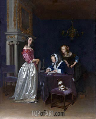Curiosity, c.1660/62 | Gerard ter Borch| Painting Reproduction