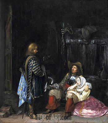 The Unwelcome Message, 1653 | Gerard ter Borch| Gemälde Reproduktion