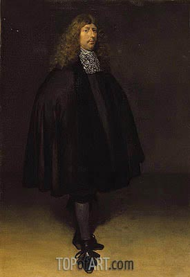 Self Portrait, c.1668 | Gerard ter Borch | Painting Reproduction