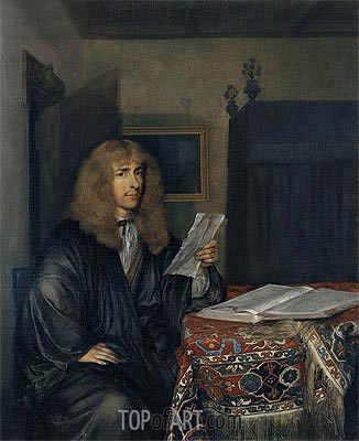 Portrait of a Man Reading a Coranto, c.1675   Gerard ter Borch   Painting Reproduction
