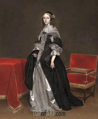 Portrait of a Woman, c.1665 | Gerard ter Borch | Painting Reproduction