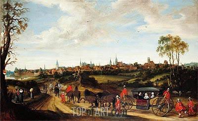 Gerard ter Borch   The Dutch Envoy Adriaan Pauw arriving at Munster, c.1646/48