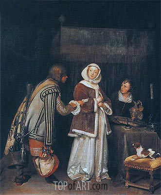 The Refused Letter,  | Gerard ter Borch| Painting Reproduction