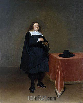 Burgomaster Jan van Duren, c.1666/67 | Gerard ter Borch| Painting Reproduction