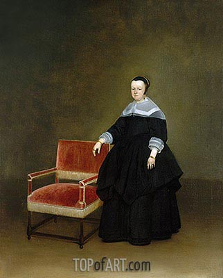 Margaretha van Haexbergen, c.1666/67 | Gerard ter Borch| Painting Reproduction