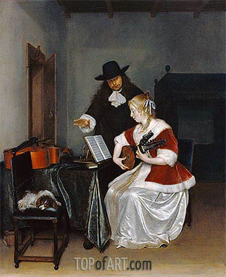 The Music Lesson, c.1668 | Gerard ter Borch| Painting Reproduction