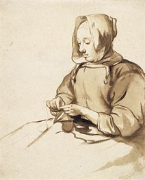 Woman Doing Handwork | Gerbrand van den Eeckhout | Painting Reproduction