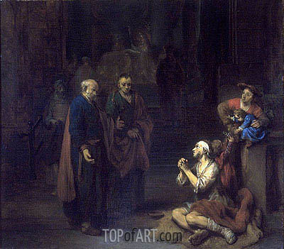 St. Peter Healing the Lame, 1667 | Gerbrand van den Eeckhout| Painting Reproduction