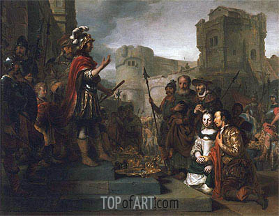 The Continence of Scipio, 1659 | Gerbrand van den Eeckhout| Painting Reproduction