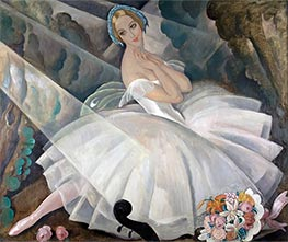 The Ballerina Ulla Poulsen in the Ballet Chopiniana, 1927 by Gerda Wegener | Painting Reproduction