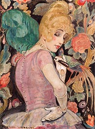 Lili with a Feather Fan, 1920 by Gerda Wegener | Painting Reproduction