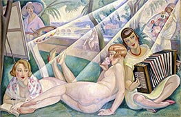 A Summer Day, 1927 by Gerda Wegener | Painting Reproduction