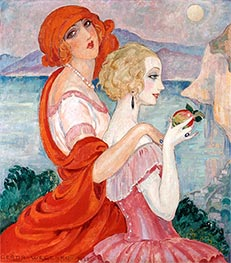 On the Anacapri Road | Gerda Wegener | Painting Reproduction
