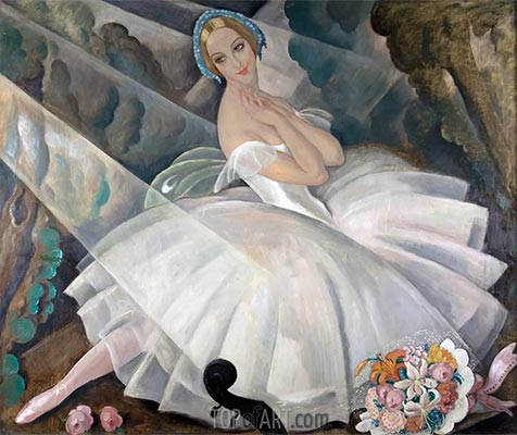 The Ballerina Ulla Poulsen in the Ballet Chopiniana, 1927 | Gerda Wegener | Painting Reproduction