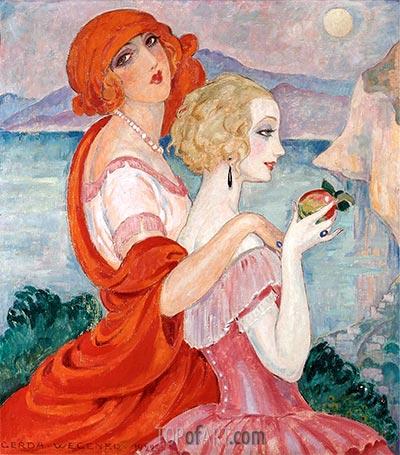 Auf der Anacapri Weg, 1922 | Gerda Wegener | Gemälde Reproduktion