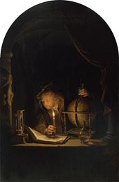 Astronomer by Candlelight, c.1655/59 by Gerrit Dou | Painting Reproduction