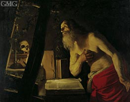 Saint Jerome, undated by Gerrit van Honthorst | Painting Reproduction