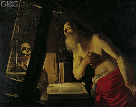 Saint Jerome, undated | Gerrit van Honthorst | Gemälde Reproduktion