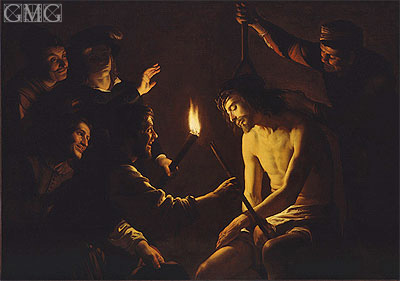 The Mocking of Christ, c.1617 | Gerrit van Honthorst | Gemälde Reproduktion