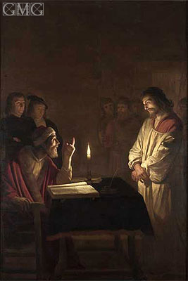 Christ Before the High Priest, c.1617 | Gerrit van Honthorst | Painting Reproduction