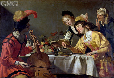 Concert, c.1626/30 | Gerrit van Honthorst | Painting Reproduction