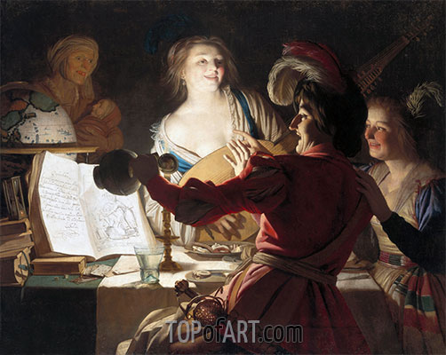 The Debauched Student, 1625 | Gerrit van Honthorst | Painting Reproduction