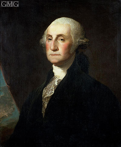 Portrait of George Washington, b.1801 | Gilbert Stuart | Painting Reproduction