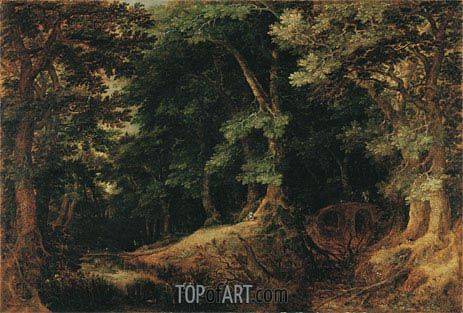 Forest Landscape, 1598 | Gillis van Coninxloo | Painting Reproduction