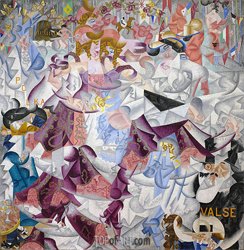 Dynamic Hieroglyphic of the Bal Tabarin, 1912 | Gino Severini | Painting Reproduction
