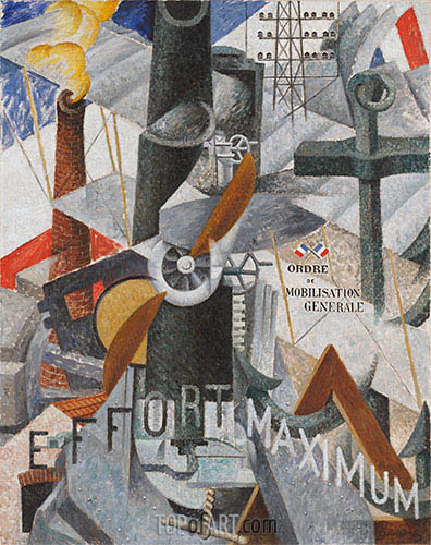 Visual Synthesis of the Idea: War, 1914 | Gino Severini | Painting Reproduction