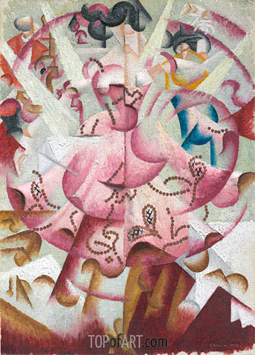 Dancer at Pigalle's, 1912 | Gino Severini | Painting Reproduction