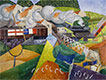Red Cross Train Passing a Village, 1915 | Gino Severini (inspired by)