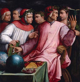 Portrait of Six Tuscan Poets, 1544 von Giorgio Vasari | Gemälde-Reproduktion
