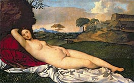 The Sleeping Venus, c.1508/10 by Giorgione | Painting Reproduction