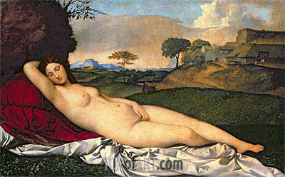 The Sleeping Venus, c.1508/10 | Giorgione | Painting Reproduction