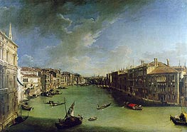 Grand Canal From the Palazzo Balbi, 1724 by Canaletto | Painting Reproduction