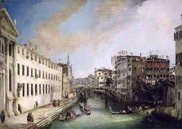 Rio dei Mendicanti, c.1720/25 by Canaletto | Painting Reproduction