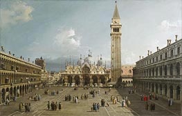 Piazza San Marco With the Cathedral, c.1730/35 von Canaletto | Gemälde-Reproduktion