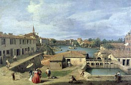 A View of Dolo on the Brenta Canal, c.1727/40 by Canaletto | Painting Reproduction