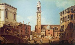 Campo Santi Apostoli, c.1735/40 by Canaletto | Painting Reproduction